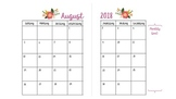 FREE floral monthly calendar template