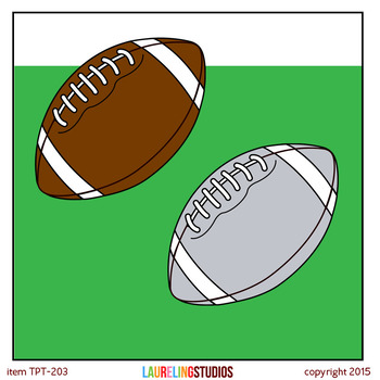 FREE football clipart for personal use or TpT products