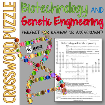 Biotechnology and Genetic Engineering Crossword Puzzle for Review or Assessment