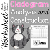 Cladogram Analysis and Construction Worksheet for Notes, Review, or Assessment
