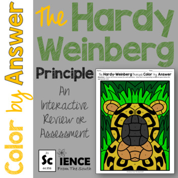 Hardy Weinberg Principle Color by Answer for Review or Assessment