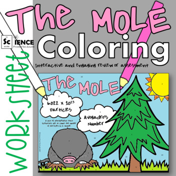 Mole Conversions and Calculations Coloring Worksheet for Review or Assessment