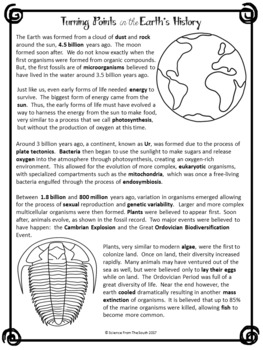 Turning Points in the Earth's History and Evolution Cloze Reading