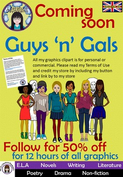 Teens and Teenagers Clip Art Set 1 - girls