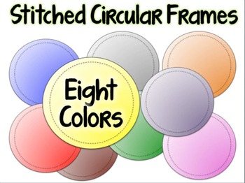 Stitched Ribbons and Circular Frames