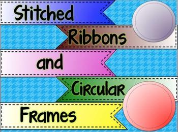 Stitched Ribbons and Circular Frames