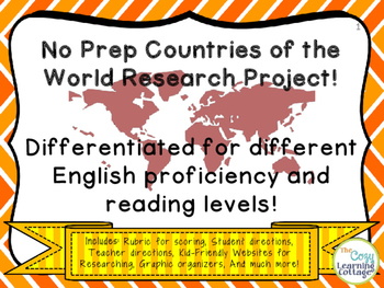 No Prep Countries of the World Research Project!