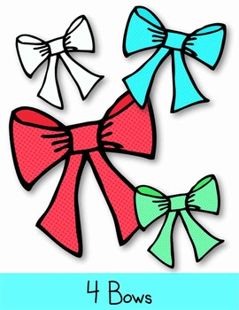 Holiday Candy Canes, Bows & Hearts Clip Art ~ Christmas Graphics ~ 31 png