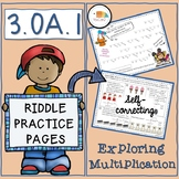 Riddle Practice Pages Multiplication Equal Groups 3.OA.A.1