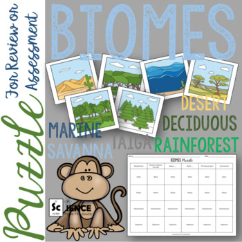 Biomes Puzzle for Review or Assessment of Biome Characteristics