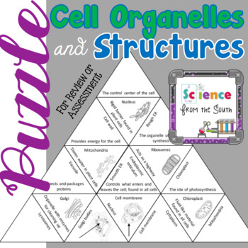 Cell Organelles and Structures Puzzle for Review or Assessment