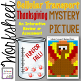 Cellular Transport Thanksgiving Turkey Review Mystery Picture