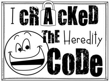Heredity and Punnett Squares Crack the Code Activity for Review or Assessment