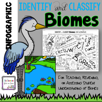 Identify and Classify Biomes Infographic for Teaching, Reviewing, or Assessing
