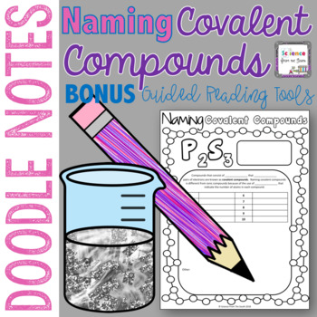 Naming Covalent Compounds Doodle Notes with Bonus Guided Reading Tools