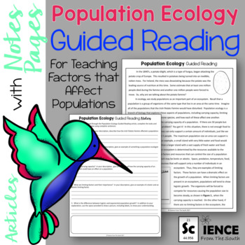 Population Ecology Guided Reading Articles and Notes Pages
