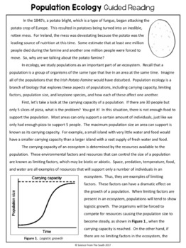 population ecology guided reading articles and notes pages tpt rh teacherspayteachers com leveled articles for guided reading articles of confederation guided reading