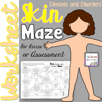 Skin Diseases and Disorders Maze Worksheet for Review or Assessment