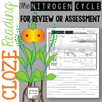 The nitrogen cycle teaching resources teachers pay teachers the nitrogen cycle cloze reading with diagram for notes review or assessment ccuart Gallery