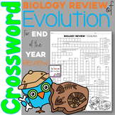 Biology Review of Evolution Crossword Puzzle