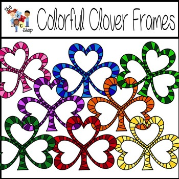 Colorful Clover Frames