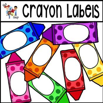 Crayon Labels Clipart Set