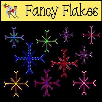 Fancy Flakes Clipart Set