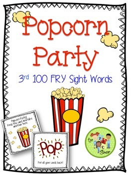Popcorn Party Sight Word Game -3rd 100 FRY