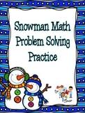 Snowman Math Problem Solving Practice (3rd Grade)