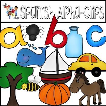 Spanish Alpha-Clips - A B C