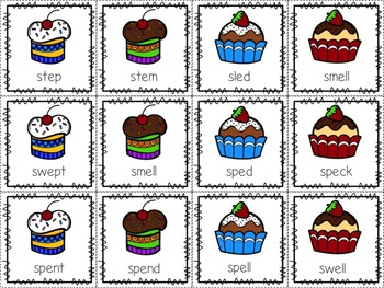 Superb Sweets! Beginning/Final S-blends with Short Vowels