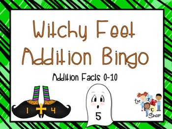Witchy Feet Addition Bingo (0-10)