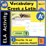 """FREE for Limited time!!! GOOGLE FORM Greek and Latin Root Word """"GRAPH"""""""