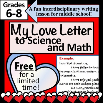 FREE for NOW!! My Love Letter to Math and Science