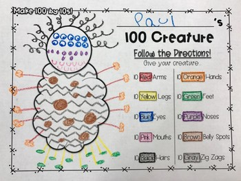100 Creature {Make a Creature by 5s, 10s, & 20s}