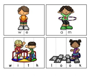 Back to School Sight Word Puzzles - Dolch Lists 1-6
