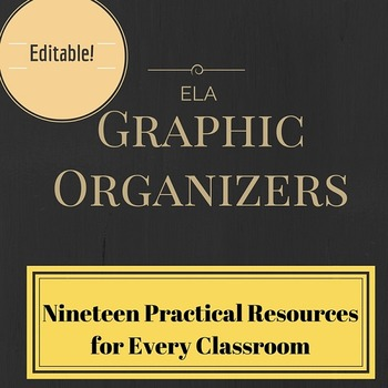 Nineteen Practical Organizers for the ELA Classroom (editable PDFs)
