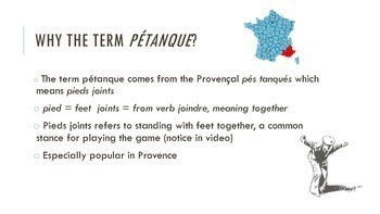 FREE fun facts about pétanque (warmup)