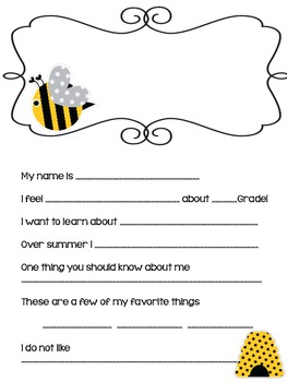 FREE getting to know you sheet -THE BUZZ