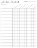 FREE grade record sheet (26 students)