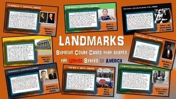 FREE - graphic organizer for any landmark supreme court case