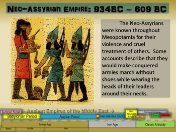 FREE guided notes for the NEO-ASSYRIAN EMPIRE (part 3 of the Mesopotamia Unit)