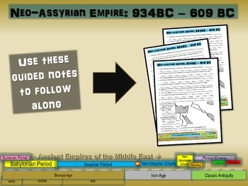 FREE guided notes for the NEO-ASSYRIAN EMPIRE (part 3 of t