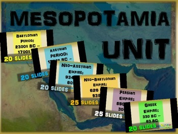 FREE guided notes for the NEO-BABYONIAN EMPIRE (part 4 of the Mesopotamia Unit)