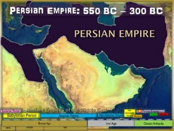 FREE guided notes for the PERSIAN EMPIRE (part 5 of the Mesopotamia Unit)