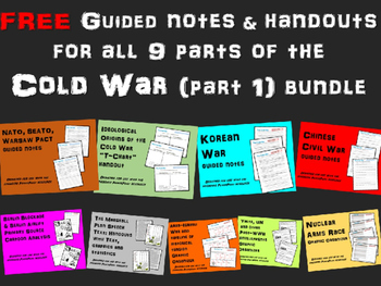 FREE guided notes on NATO, SEATO, WARSAW PACT (part of Cold War Series)