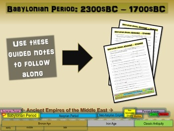 FREE guided, structured notes for BABYLONIANS (part 1 of the Mesopotamia Unit)