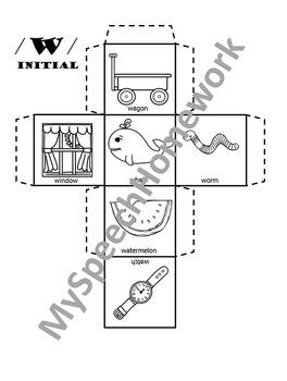 FREE /h/ initial Articulation Dice Craft
