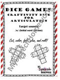 FREE /h/ initial Articulation Dice Craft