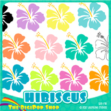 FREE hibiscus clipart// .png files - black and white included